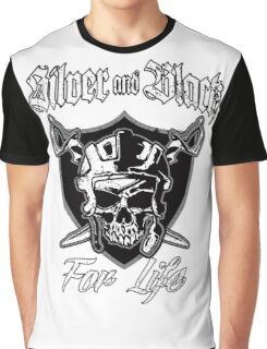 Silver and Black Graphic T-Shirt