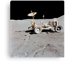 Apollo 15 Lunar Roving Vehicle on the moon. Canvas Print
