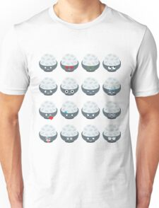 Rice Bowl Emoji Different Facial Expression Unisex T-Shirt