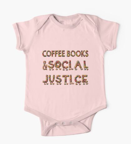 - COFFEE BOOKs AND SOCIAL JUSTICE -  One Piece - Short Sleeve