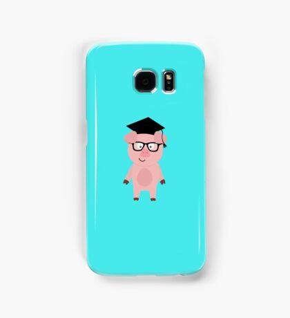 Nerd Pig with glasses Samsung Galaxy Case/Skin