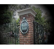 Welcome, Foolish Mortals Photographic Print
