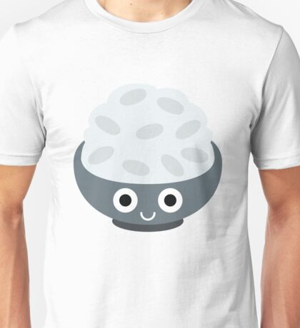 Rice Bowl Emoji Shock and Surprise Unisex T-Shirt