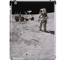 Apollo 16 astronaut collects samples on the lunar surface. iPad Case/Skin