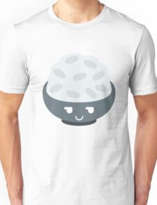 Rice Bowl Emoji Cheeky and Up to Something Unisex T-Shirt