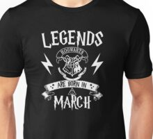 Legend Are Born In March Unisex T-Shirt