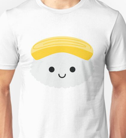 Egg Sushi Emoji Happy Smiling Face Unisex T-Shirt