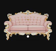 Glitch furniture sofa baroque pink sofa by wetdryvac