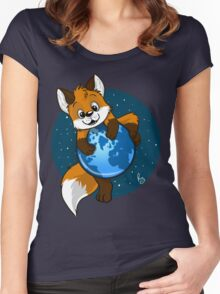 Cute Firefox Women's Fitted Scoop T-Shirt