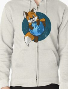 Cute Firefox Zipped Hoodie