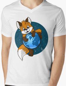 Cute Firefox Mens V-Neck T-Shirt