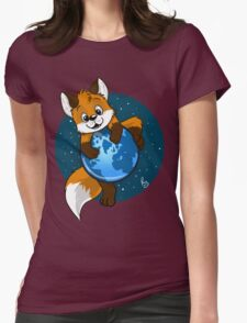 Cute Firefox Womens Fitted T-Shirt