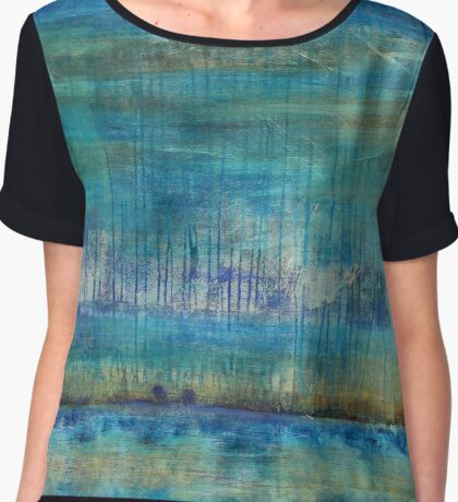 Blue Painting Chiffon Top