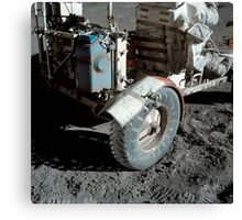 A close-up view of the lunar roving vehicle during Apollo 17 EVA. Canvas Print