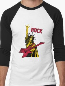 Statue Of Rock Men's Baseball ¾ T-Shirt