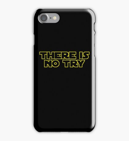 Star Wars There Is No Try iPhone Case/Skin