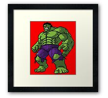 Pixel Smash Framed Print