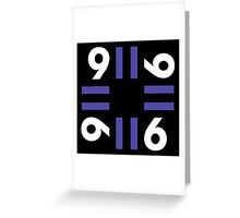 9-11 Blue Greeting Card