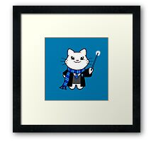 Gumdrop is Wizardkitty - Wit and Learning! Framed Print