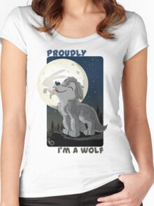Proudly I'm a wolf Women's Fitted Scoop T-Shirt