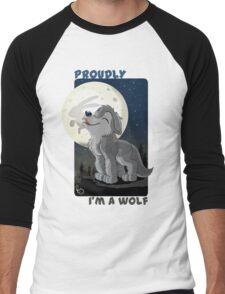 Proudly I'm a wolf Men's Baseball ¾ T-Shirt