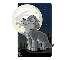 Little Wolf Howling Photographic Print