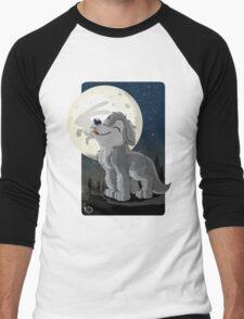 Little Wolf Howling Men's Baseball ¾ T-Shirt
