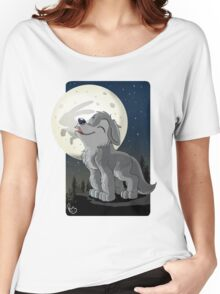 Little Wolf Howling Women's Relaxed Fit T-Shirt