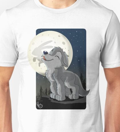 Little Wolf Howling Unisex T-Shirt