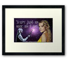 Harry Potter Luna Lovegood Quote Framed Print