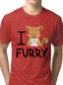 I ñawr FURRY Tri-blend T-Shirt