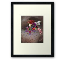 Crazy flower eye Framed Print