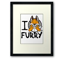 I grrarrrgh furry (fox version) Framed Print