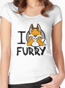 I grrarrrgh furry (fox version) Women's Fitted Scoop T-Shirt