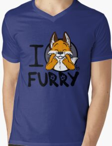 I grrarrrgh furry (fox version) Mens V-Neck T-Shirt