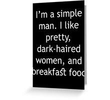Breakfast Food Greeting Card