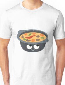 Hotpot Emoji Think Hard and Hmm Unisex T-Shirt