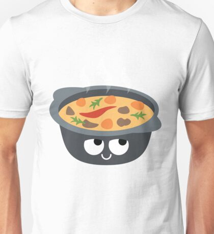 Hotpot Emoji Think Hard and Hmm Unisex T-Shirt