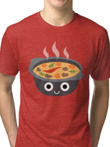 Hotpot Emoji Shock and Surprise Tri-blend T-Shirt