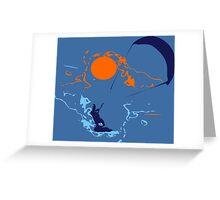 Kite Surfing Greeting Card
