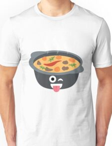 Hotpot Emoji Wink and Tongue Out Unisex T-Shirt