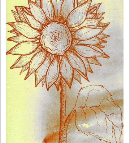 Canary Sunflower Sticker