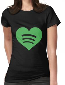 Spotify Love Womens Fitted T-Shirt
