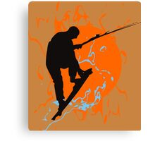 Kite Boarding Canvas Print