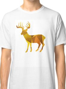 Gold geomatric deer Classic T-Shirt