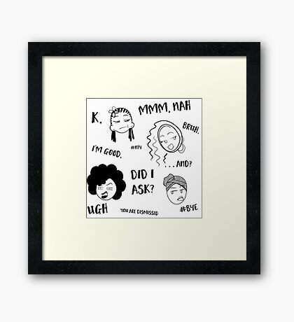 Guess Who Isn't Interested? Framed Print