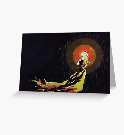 Street Fighter Ken Flaming Shoryuken Greeting Card