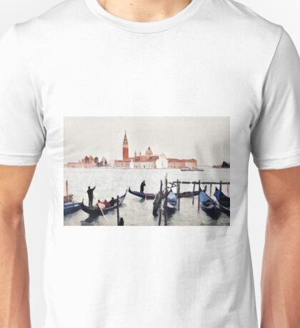 Venice Gondoliers on the Lagoon - Stylized Unisex T-Shirt