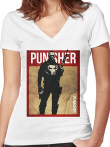 THIS IS WAR - PUNISHER 2 VINTAGE Women's Fitted V-Neck T-Shirt