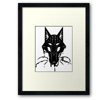 Ink Fox (extra floof) Framed Print